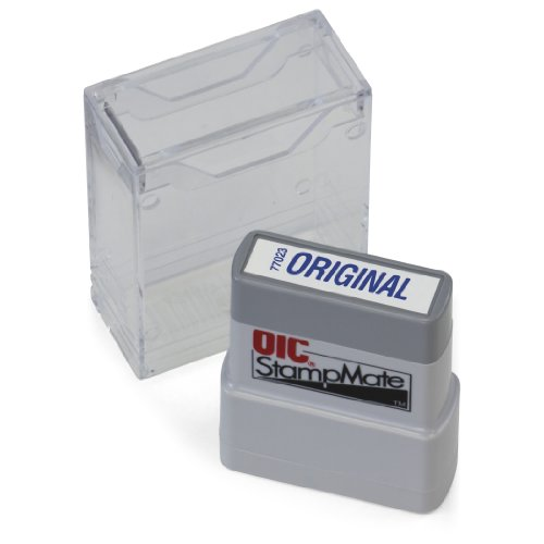 "OfficemateOIC Office Pre-Inked Message Stamp, ""Original"", Blue, Refillable (77023)"