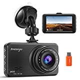 Dash Cam【2021 Upgraded Version】1080P FHD Car DVR 3 Inch Driving Recorder Dashboard Camera with 170 Degree Wide Angle WDR G-Sensor Loop Recording