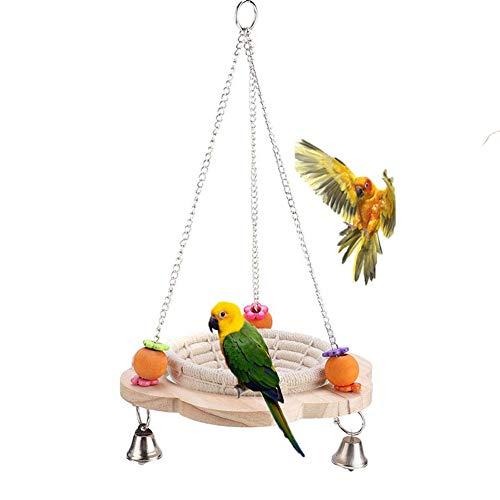 Vogel Nest Bett Schaukel Spielzeug für afrikanische Graue Amazonas Nymphensittiche Sittiche Wellensittiche Kanarienvögel Finken Papageienkäfig, Hängematte Sitzstange