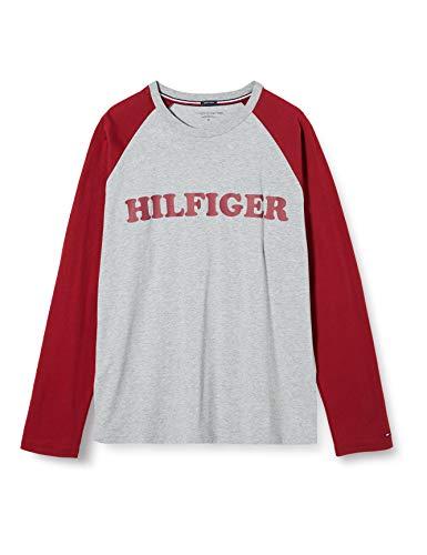 Tommy Hilfiger Cn LS tee Raglan Suéter, Rojo (Red 629), X-Large para Hombre