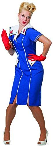 Panelize Matrosin Navi Girl Matrosenbraut Pin up Burlesque Größe 48 oder 52 (48)
