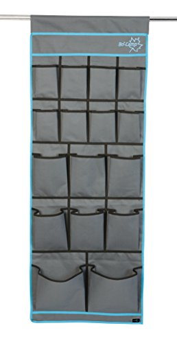 16 Fächer Organizer für Vorzelt, Wohnwagen,Wohnmobil,in Grau Blau 123 X 48 cm