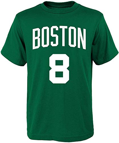 NBA Kids Youth Team Color Alternate Game Time Name and Number Player T-Shirt (10-12, Kemba Walker Boston Celtics Green)