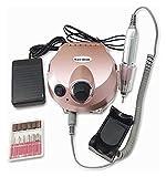 SHUHANG 30000RPM Máquina eléctrica de Taladro de uñas Kits de pedicura Fichas bits de perforación de Oro Rosa pulidor de pulidor de uñas y Grabado (Color : Pink, Size : 16x14x8cm)