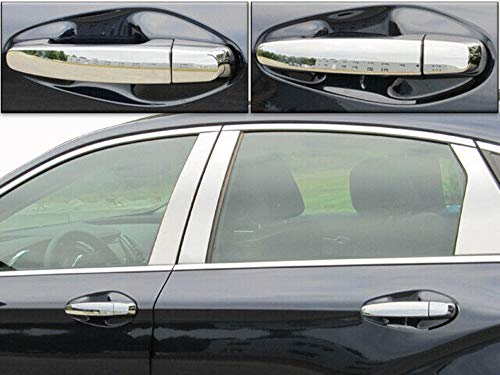 QAA fits 2014-2020 Chevrolet Impala, Does NOT fit The Limited 8 Piece Chrome Plated ABS Plastic Door Handle Cover Kit DH54135