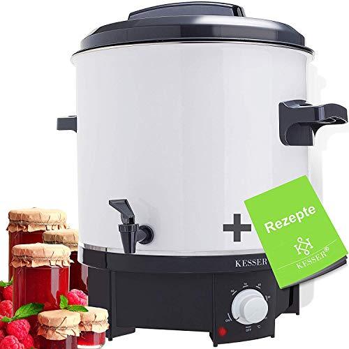 KESSER Einkochautomat 27 Liter | 1800 Watt | Temperatur von 30-100°C | Dauerbetrieb | Abschaltautomatik Einkochvollautomat, Heißgetränkeautomat, Glühweintopf