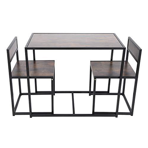 Spanplatte + Eisen Esstisch Imitation Holzmaserung Küchenzubehör Tischset Wohnmöbel für kleine Räume Wohnzimmer Küche Home