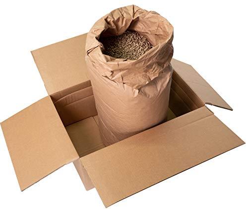Jumbogras® Einstreu-Pellets aus Miscanthus|Elefantengras als Groß-Tier & Pferdeeinstreu, statt Stroh u. Sägespäne, für saubere Boxen|Stall|Paddock (1 Sack 25 kg)
