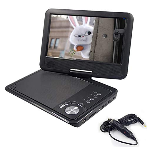Reproductor de DVD portátil de 9 Pulgadas, Pantalla giratoria VCD CD MP3 Reproductor de DVD, Compatible con Tarjeta SD y USB, Juego de TV, Reproductor de DVD para automóvil