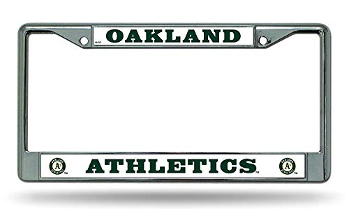 Rico Oakland Athletics Official MLB 12 inch x 6 inch Chrome License Plate Frame Industries