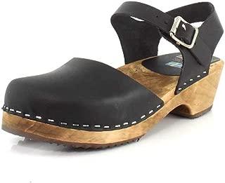 wide width wooden clogs