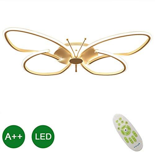 LED Modern Art Deco Plafondlamp Creatief Vlinder Decoratief Plafondlamp Acryl Inbouwarmatuur Slaapkamer Studeerkamer Kinderkamer Modekamer Verlichting Kleur: Wit Grootte: 64cm