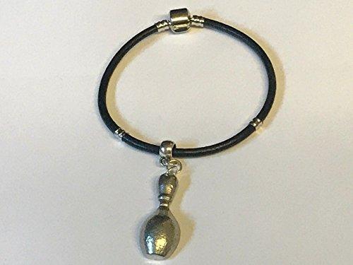 Giftsforall TG248 Charm-Anhänger auf silberfarbenem Schlangen-Armband aus Kunstleder 1,4 cm x 3,5 cm