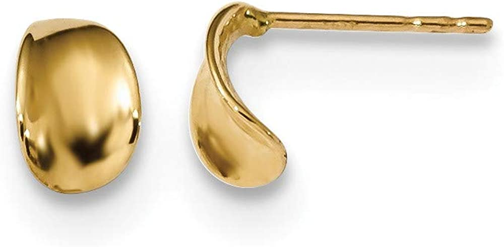 14k Yellow Gold Post Stud Earrings Ball Button Fine Jewelry For Women Gifts For Her