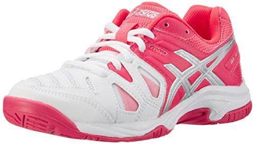 Asics C502Y0120, Zapatillas de Tenis Unisex Adulto, Blanco (White/Diva Pink/Silver), 38 EU