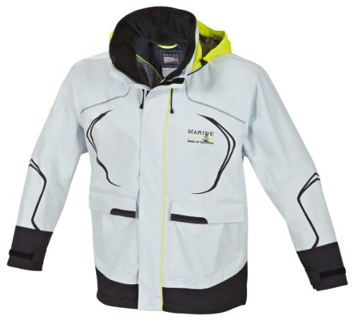 Marinepool Erwachsene Sailingwear-Men Cabra Jacket, Icegrey/Black, XL