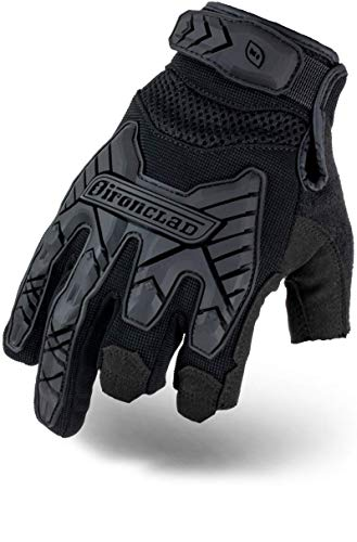 Ironclad Tactical Impact Trigger Gloves, TAA Compliant, Best for Military, Law Enforcement, Airsoft, Paintball, Machine Washable, Sized XS-XXXXL (1 Pair), Black (IEXT-FRIBLK-08-XXXXL)
