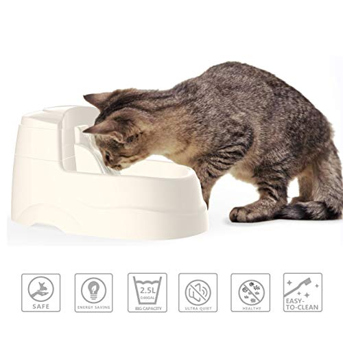 Cat Drinking Fountain Dog Water Dispenser Pet Fountain with 2.5L