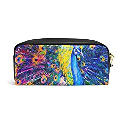 Ofertas Tienda de maquillaje: Tamaño: longitud 20 cm (7.87 pulgadas), altura 8.5 cm (3.35 pulgadas), ancho 5.5 cm (2.16 pulgadas) Material de la bolsa de lápiz: cuero sintético de microfibra PU Siéntete suave y cómodo. Un bolsillo principal y una bolsa de compartimento pequeño, l...