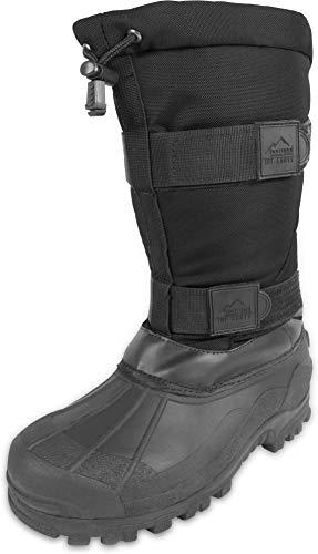normani Canadian Winterstiefel Kälteschutzstiefel Ice-Boots bis -40 Grad Farbe Black Größe 44/10