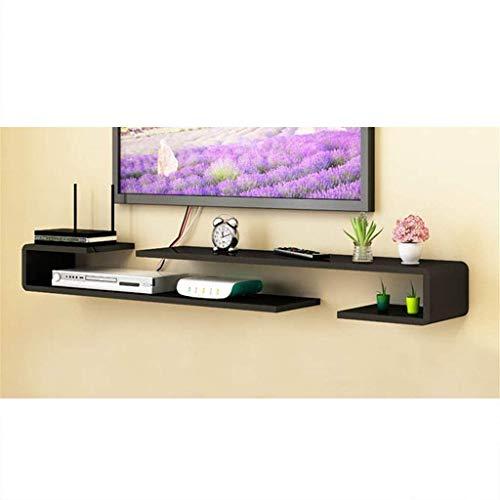 Inicio Equipos Consola multimedia montada en la pared Consola de TV Estante flotante Decodificador decodificador Enrutador Reproductor de DVD Estante de componentes Estante de almacenamiento de rec