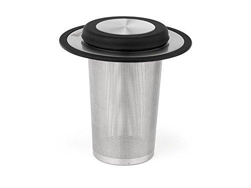 Bredemeijer Universal-Teefilter mit Ablage/Deckel groß, Edelstahl 304, Silberfarben, 101x101x105mm
