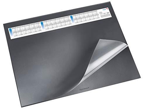 Läufer Durella DS Podkładka na biurko z przezroczystą nakładką i kalendarzem 52 x 65 cm czarny
