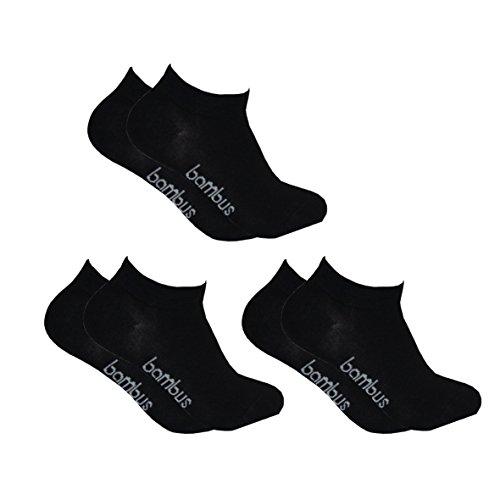 3 Paar Bambussocken. Supersofte Sneaker Kurzschaft Socken in schwarz, Sommer 2015 (39/42)
