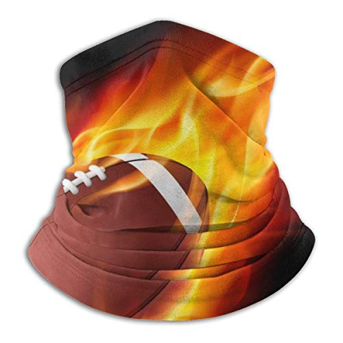 WlQshop Fire American Football Warmer Schal Schlauchschal Bandana Stirnband For Men Women Sun UV Wind Dust Protection Skiing Riding Running