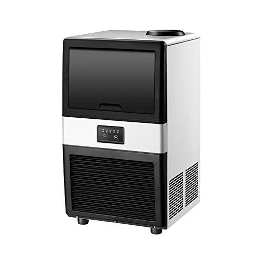Commerciële ijsmachine, 50kg / 24h roestvrijstalen ijsblokjesmachine met 10kg ijsopslagcapaciteit, 32 ijsblokjes ijsmachine ideaal voor thuis, kantoor, restaurant, bar, coffeeshop