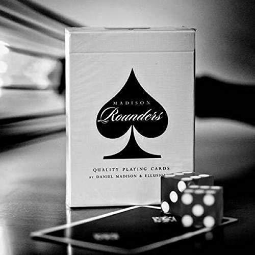 SOLOMAGIA Mazzo di Carte Bicycle Rounders Playing Cards by Madison - Black - Mazzi Ellusionist - Carte da Gioco - con Omaggio Esclusivo Firmato