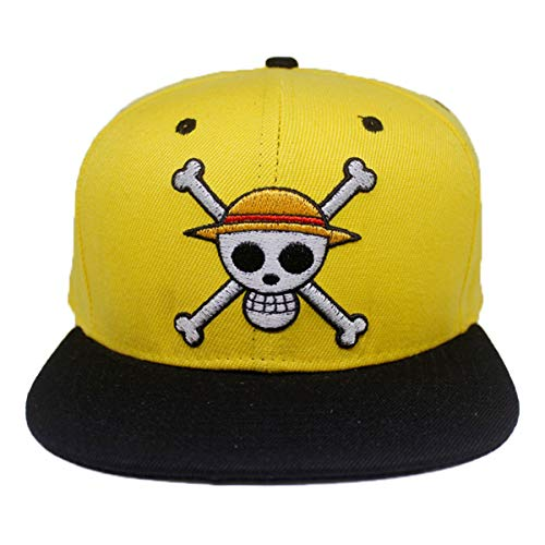 One Piece Logo bordado Perfil Soft Crown Unisex Baseball Hat Cosplay Hat Gift tipo D Talla única