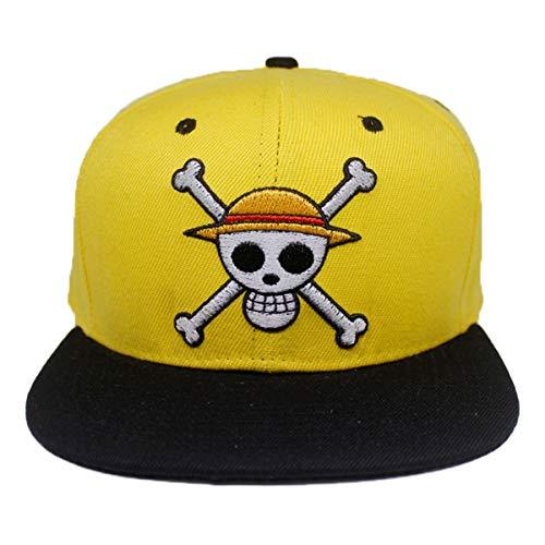One Piece Logo bordado Perfil Soft Crown Unisex Baseball Hat Cosplay Hat...