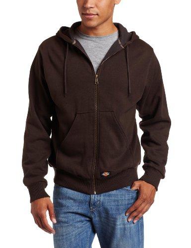 Dickies - - Tw382 thermique doublée Veste à capuche en molleton, 3X-Large, Dark Brown