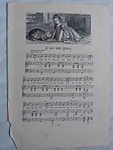 e/ vintage nursery rhyme engraving & music I LOVE LITTLE PUSSY