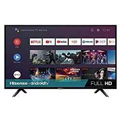 professional Hisense 40H5500F class H55 Android smart TV (with voice remote control) (2020 model)