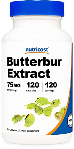 Nutricost Butterbur Extract Capsules (75mg) 120 Capsules - Gluten Free, Non-GMO, Vegetarian Friendly