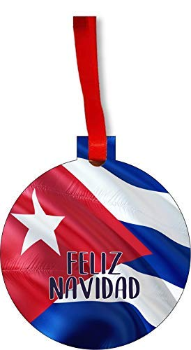 Kuba Ornament – Kuba Weihnachten Ornament Flagge Kuban – Feliz Navidad – Ornament Weihnachtsdekoration