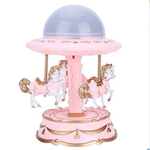 YSMLL Merry-go-round Music Box Family Decoration Birthday Christmas Wedding Gift Snowball Toyc