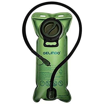 Gelindo Hydration Bladder 3 Liter 100oz, BPA-Free Hydration Backpack Replacement, Large Opening and Quick Release Insulated Tube with Shutoff Valve