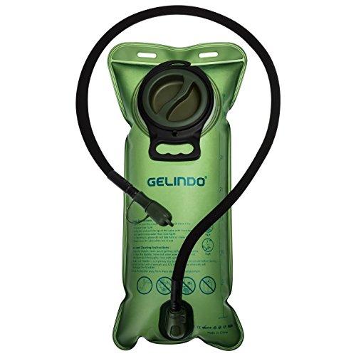 Gelindo Trinkblase 3 Liter 100oz BPA-freier Trinkrucksack Ersatz, große Öffnung und Schnellverschluss Isolierter Schlauch mit Absperrventil