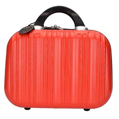 Sac à cosmétiques Sac à Main cosmétique étui de Maquillage boîte à Bijoux verrouillable pour Cadeau ladys31 * 15 * 22cm-Red_31 * 15 * 22cm
