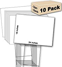 10 White Signs Blank 18''x24'' & 10 Double H 10''x30'' Stakes