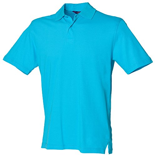 Henbury - Polo - Homme Bleu Turquoise grand