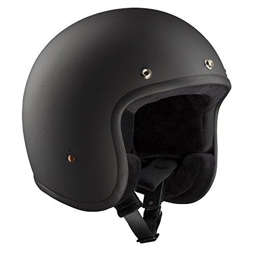 Bandit Helmets Motorradhelm ECE Jet, ECE 22-05 geprüfter Jethelm in kleiner Bauweise,Größe:ECE-M2(58);Farbe:ECE dull black