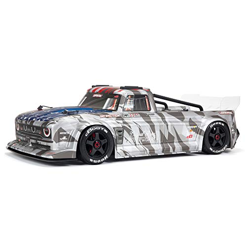 ARRMA 1/7 Infraction 6S BLX V2 All-Road RC Truck RTR (Transmitter and Receiver Included, Batteries and Charger Required), Silver, ARA7615V2T2