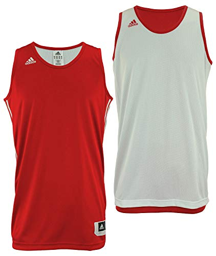 Adidas Mens Reversible Basketball Practice Jersey LT Power Red/White