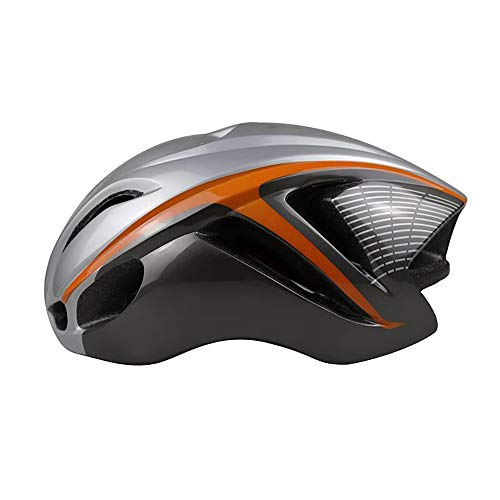 Stella Fella Casco de bicicleta para hombre casco de bicicleta integrado casco neumático 4D casco de bicicleta de montaña casco ajustable circunferencia de la cabeza (Color: Plata)