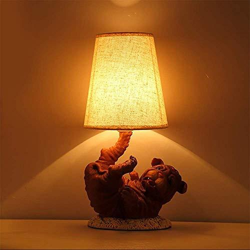 Palm kloset Lámpara de Mesa Personalidad Creativa Lindo Cachorro Aprendizaje protección Ocular lámpara de Mesa habitación de Hotel Dormitorio lámpara de Mesa