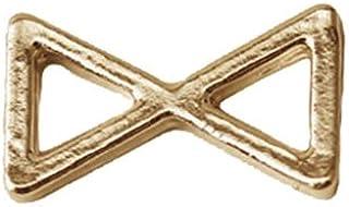 プリティーネイル ネイルアートパーツ プレーンリボンS ゴールド 15個